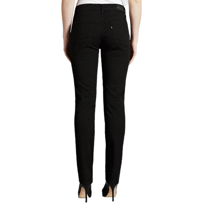 levis womens denim jeans bold curve stretch slim fit skinny casual black pants