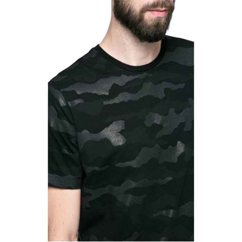 diesel t ozier men t shirt short sleeve crew neck camouflage black casual summer