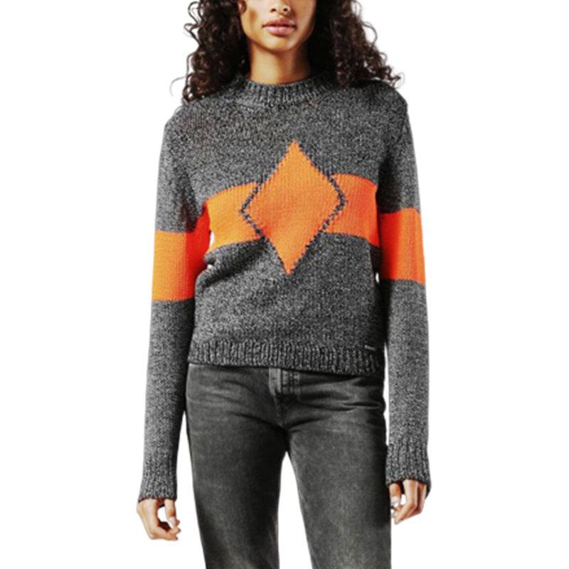 diesel m rhombus 0namm womens sweatshirt crew neck casual pullover wool jumper