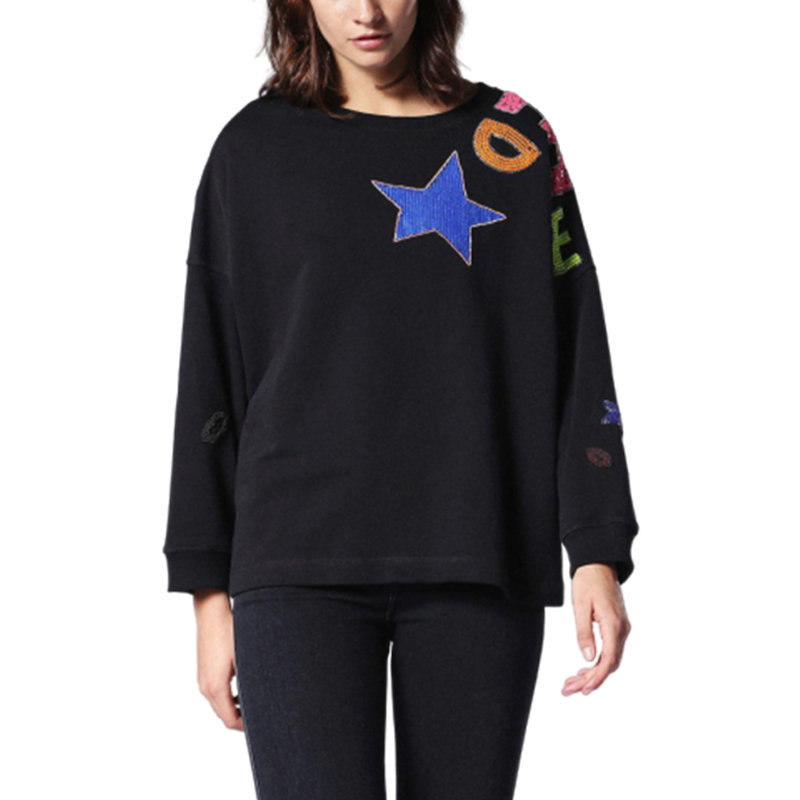 diesel f gertrude r 0bapv women cardigan back button jumper black sweatshirts