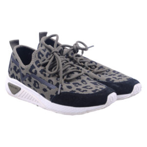 diesel s kby womens trainers tiger print lace up casual olive shoes rrp-149.99