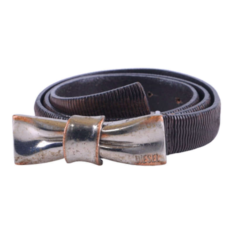 diesel baziel womens belt vintage leather ladies waist belts snake pattern italy