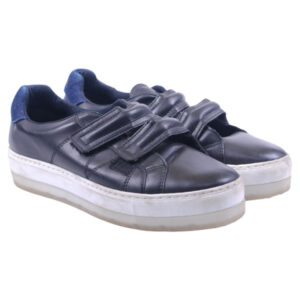 diesel womens trainers genuine leather pull on casual black shoes rrp-149.99