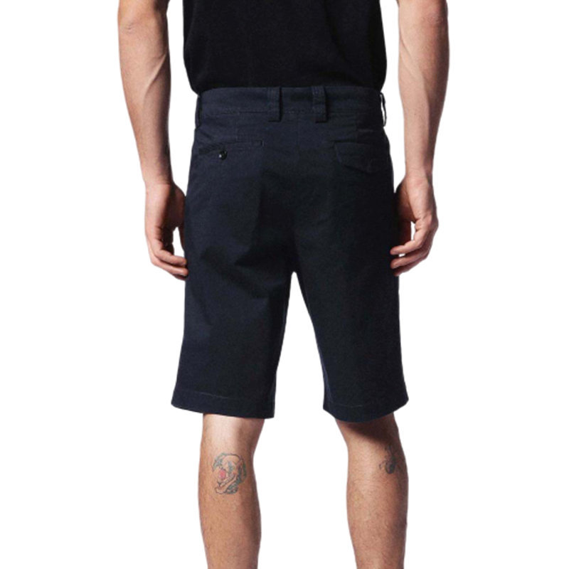 diesel chi-burial 0iaoe mens chino shorts cotton summer casual short black pants