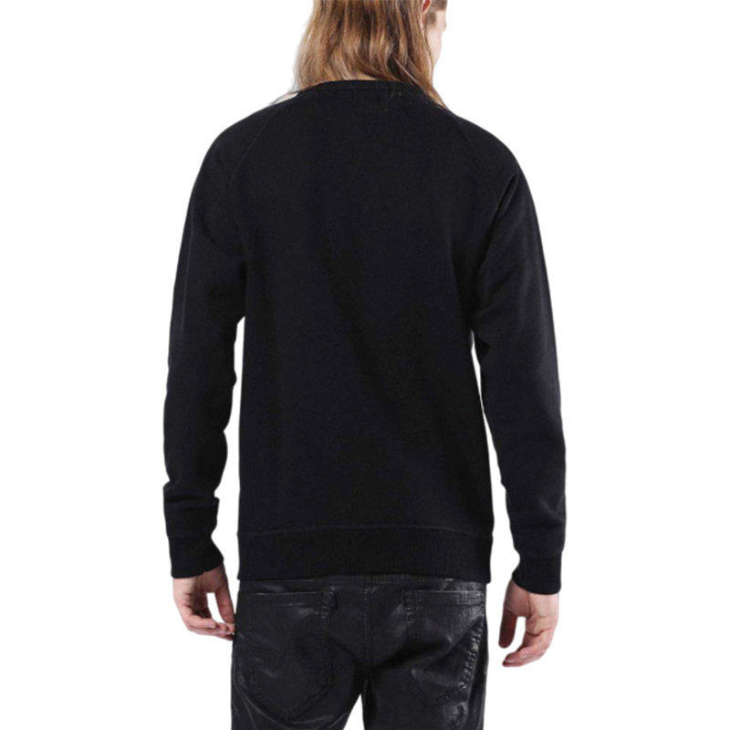 diesel s orestes patch 0iaeg mens sweatshirt crew neck casual pullover jumper