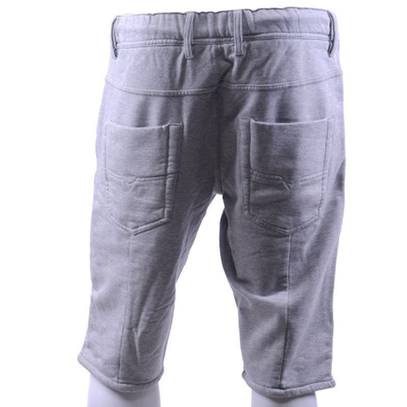 diesel mens fleece shorts casual summer beachwear grey bermudas