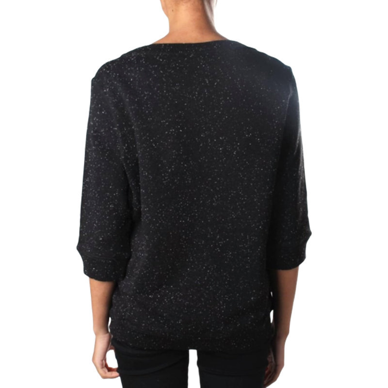 diesel f radys 3d gamd womens sweatshirt black crew neck long sleeve embroidered