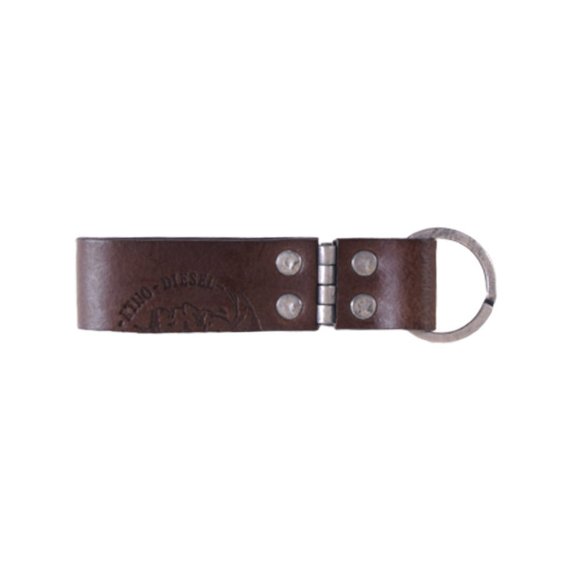 diesel mens keyring genuine leather personalized brown fob key holder italy