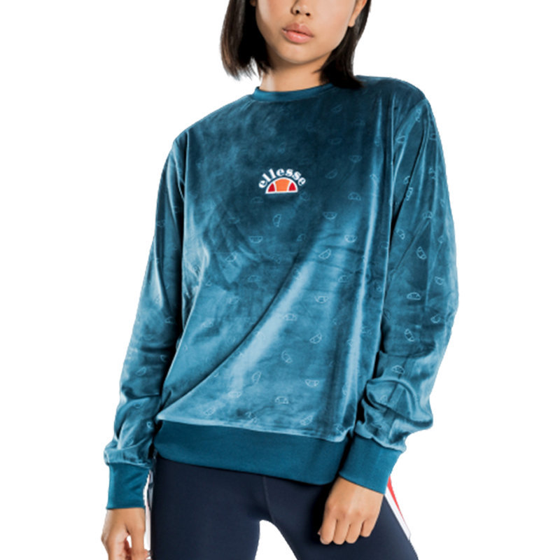 ellesse basilo sga06283 womens sweatshirt pullover jumper teal blue winter top