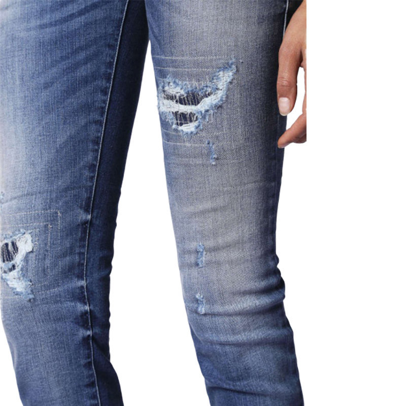 diesel grupee 0679c womens denim jeans super skinny fit blue dna faded zip italy