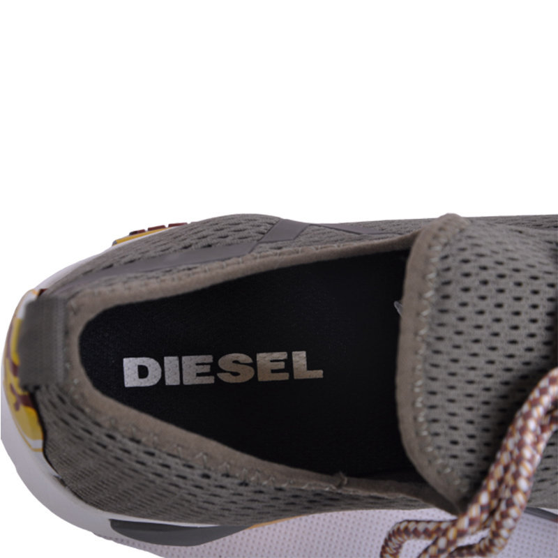 diesel s kby mens trainers eu 43 sports sneakers casual black shoes rrp ?169.99