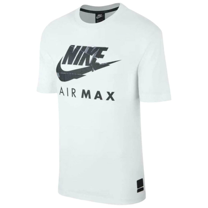 nike air max mens t-shirt athletic cut jersey cotton fitness summer white tee