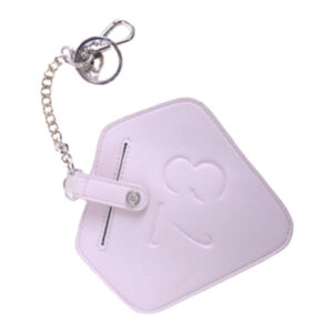 diesel womens keyring pink leather id card small wallet metal link chain keyring