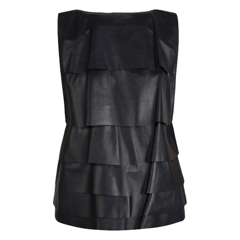diesel l-chara 900 womens tops sleeveless party dress genuine leather bodycon