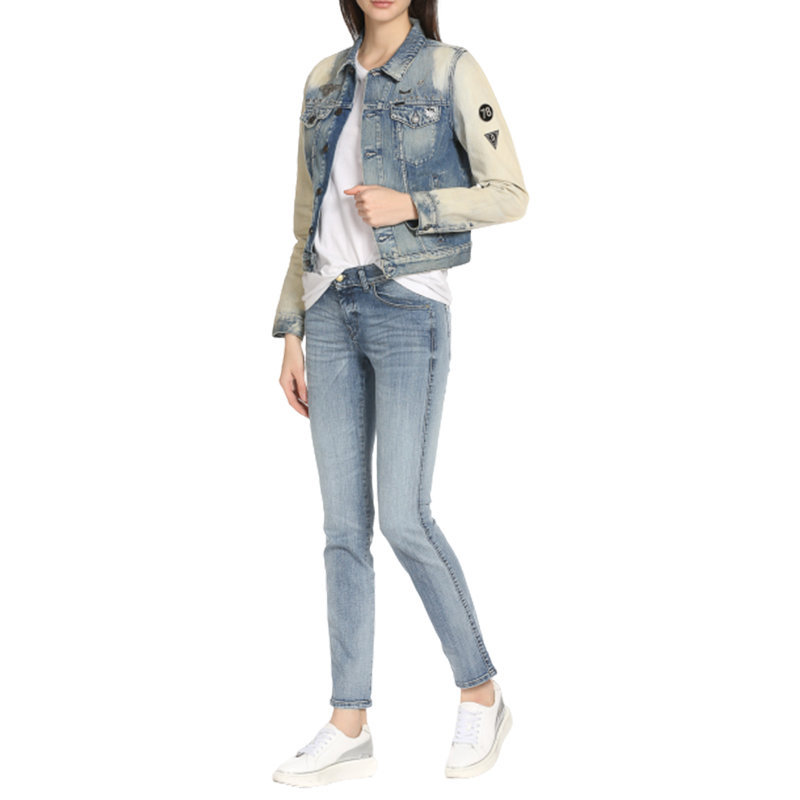 diesel de wild 0669u womens denim jacket slim fit faded jeans casual coat italy