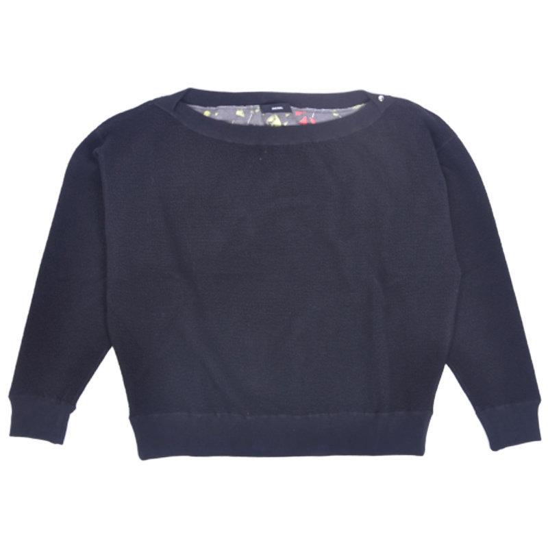 DIESEL F ECY FELPA 0SAOF Womens Sweatshirt Crew Neck Pullover Jumper Tunic Tops