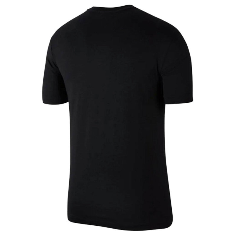 nike air max mens t-shirt black athletic cut jersey cotton fitness summer tee