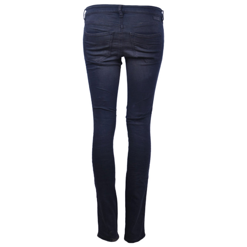 diesel doris ne 0669q womens denim jogg jeans distressed super slim sweat pant