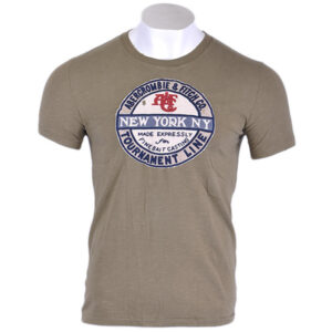 abercrombie & fitch mens t-shirt muscle fit crew neck short sleeve casual tee