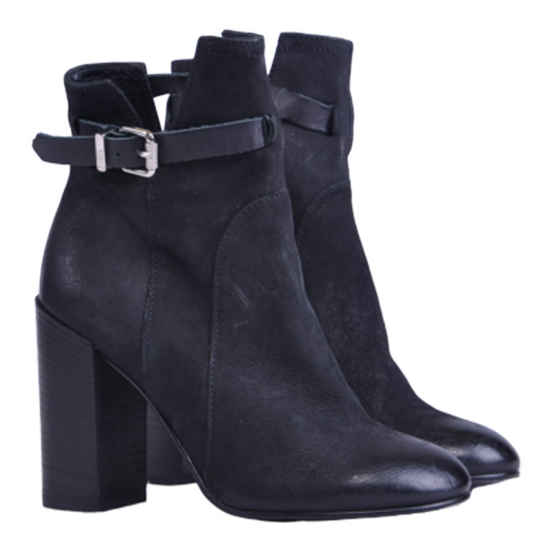 diesel d acadieh womens boots leather zip up high heel casual black shoes rp-229