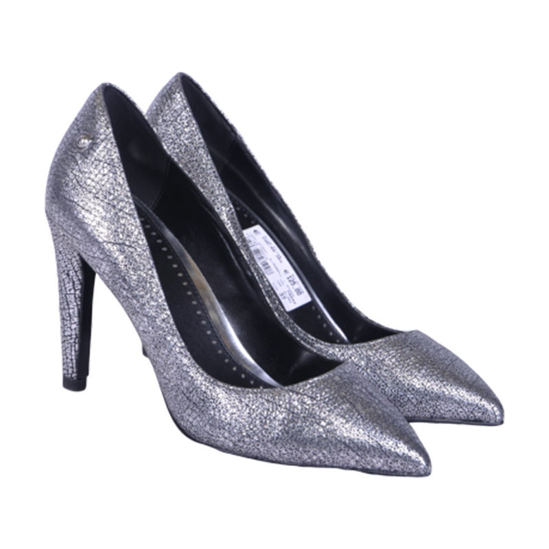 diesel day night mabell womens high heels silver slip on shoes pump shoes rp-230