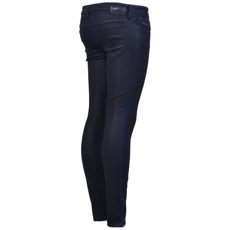 diesel skinzee-low-zip 084mb womens jeans denim pant trouser super slim-skinny