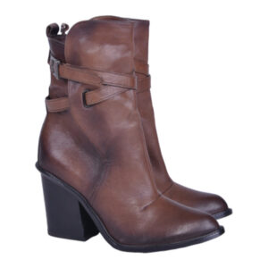 diesel womens boots genuine leather lace up cuban heel casual brown shoes rp-200