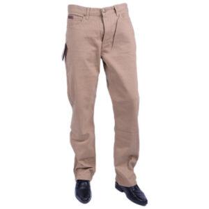 farah classic fabf4018 mid beige 262 mens trousers flat straight cotton twill