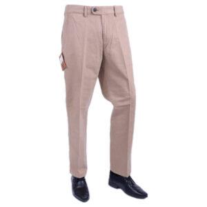farah classic fabs5088 mid beige 262 mens trousers flat straight cotton twill