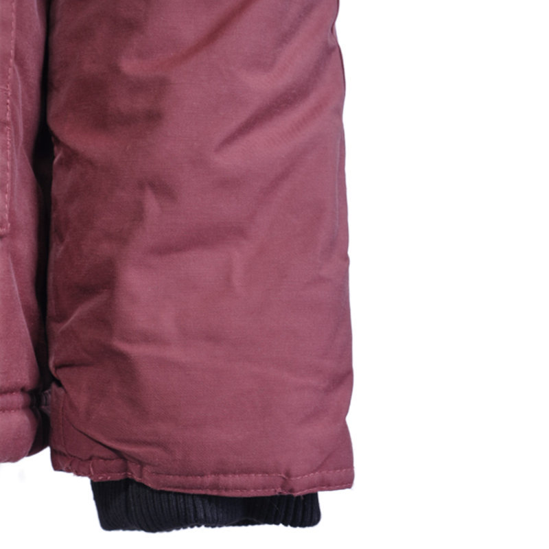 morley mens hooded parka jacket burgundy quilted fur hoody winter outwear coat