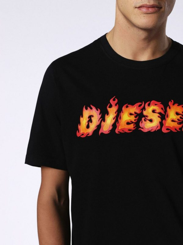 diesel t-just-sh mens t-shirt short sleeve crew neck summer casual cotton tee