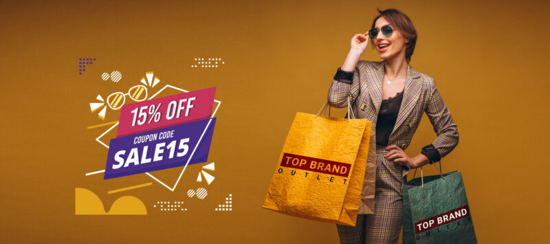 15% discount for top brand shop