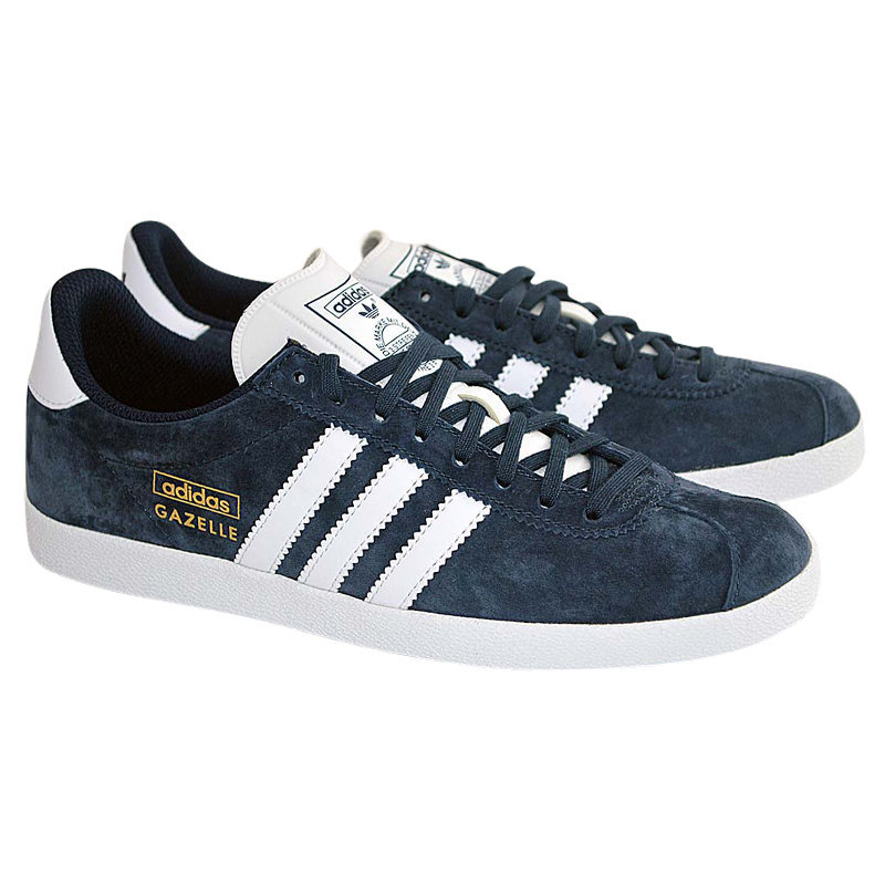 adidas gazelle og q21600 mens gazelle trainers original nubuck leather navy sued