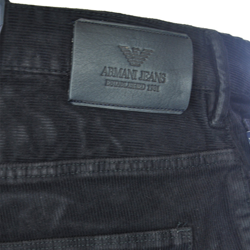 armani jeans 6x6j06 6njlz mens corduroy trouser stretch fabric slim fit comfort