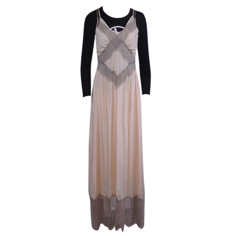 diesel d-willow womens dress kleid pink maxi long dress sleeve less summer dress