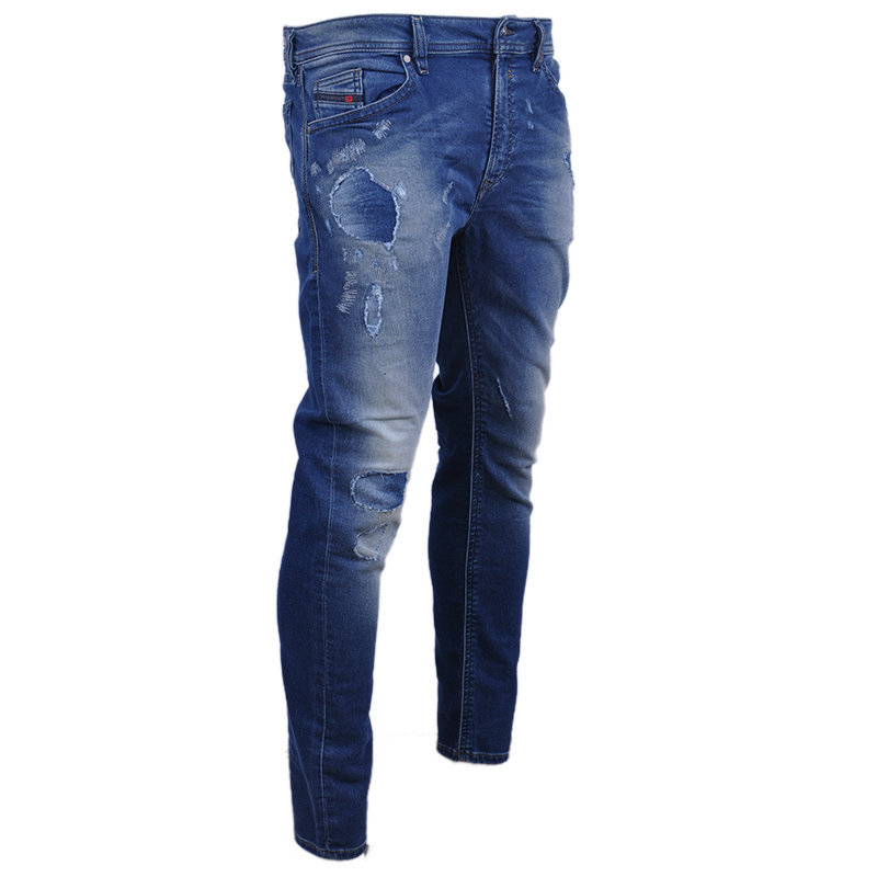 diesel spender-ne mens denim jeans stretch slim fit skinny casual blue pants