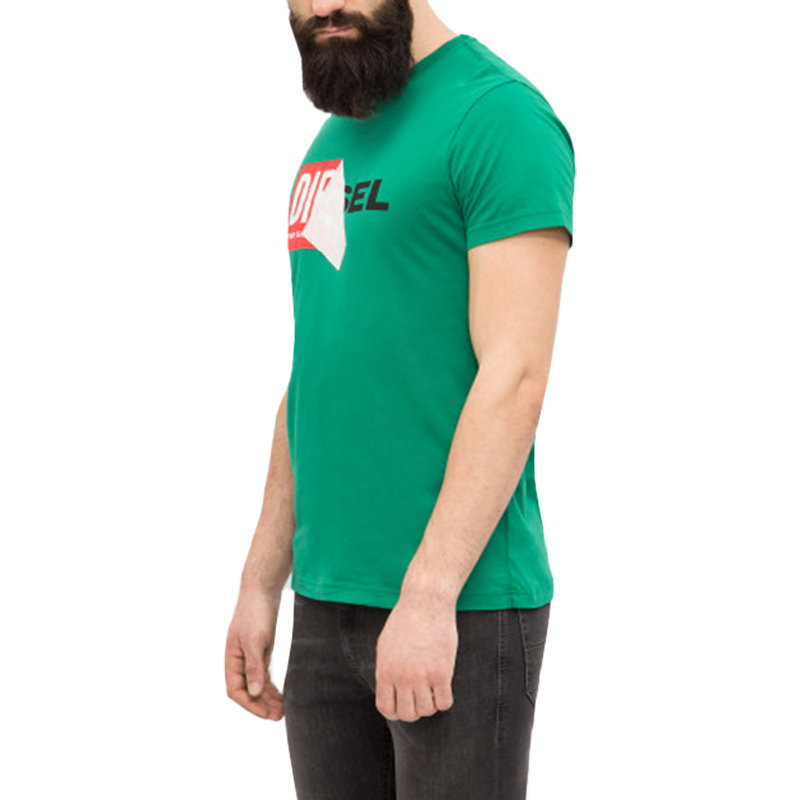 diesel t diego qa mens t shirt crew neck short sleeve casual cotton tee green