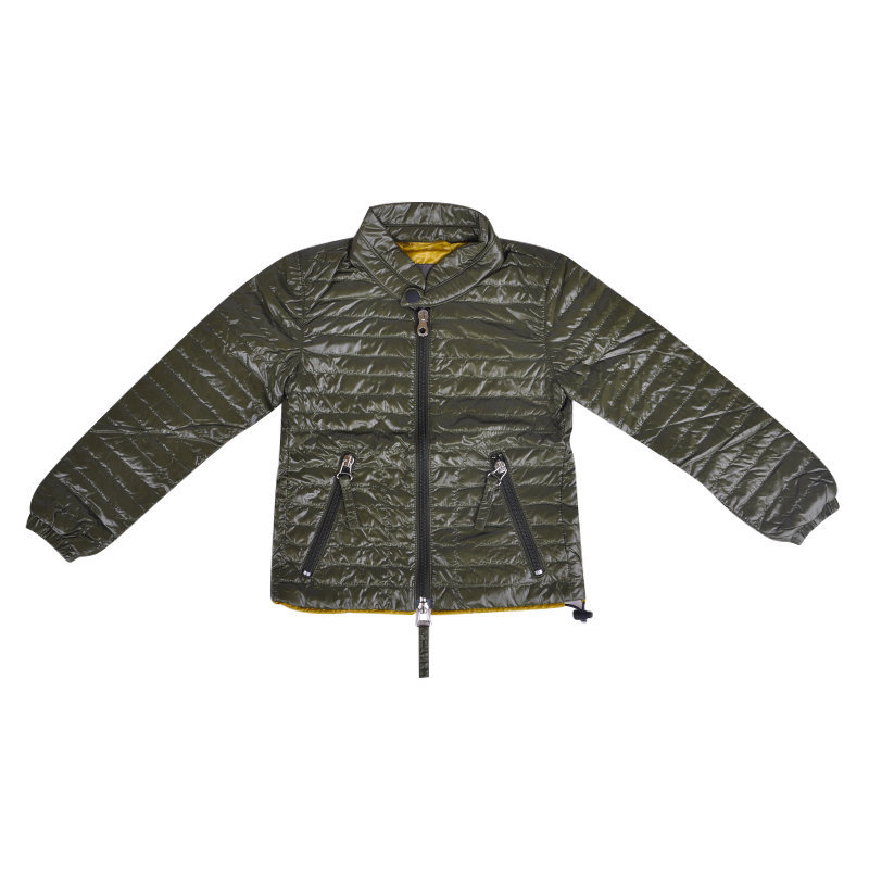 duvetica baccoj kids puffer jacket boys padded jacket full sleeve zip up olive