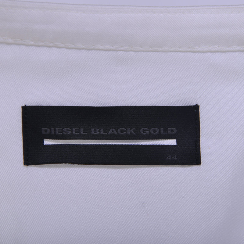diesel black gold dazen bgmbg womens dress maxi long dress white short sleeve