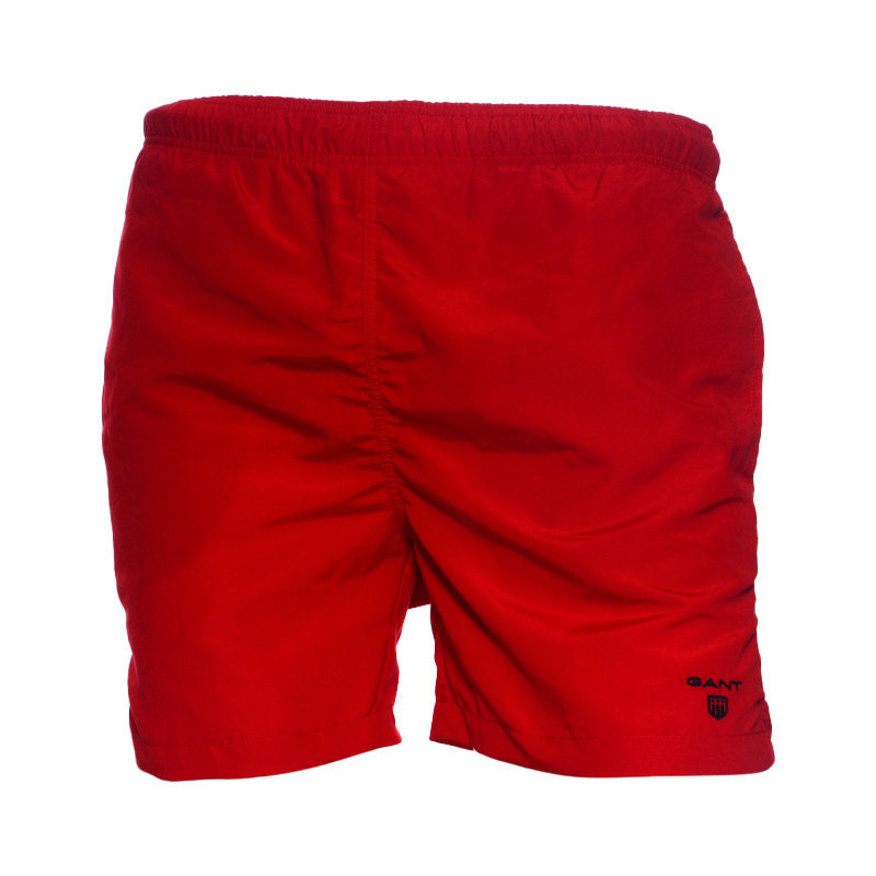 GANT CLASSIC Mens Swim Shorts Summer Beachwear Swimming Board Red Beach Shorts