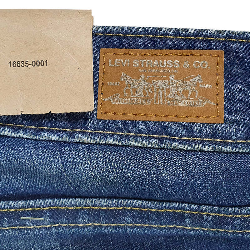 levi's womens denim jeans levi super slim casual plain stretch faded medium blue