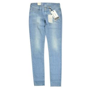 levi's womens denim jeans slight curve skinny casual plain stretch light blue