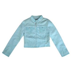 miss grant art 04 girls jacket long sleeve zip cafe racer biker jacket size 34