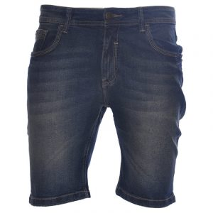 ruf tuf mens denim shorts plain summer casual beachwear stretch jeans 1 of 6