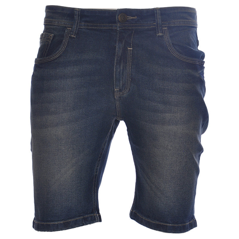ruf & tuf mens denim shorts plain summer casual beachwear stretch jeans shorts