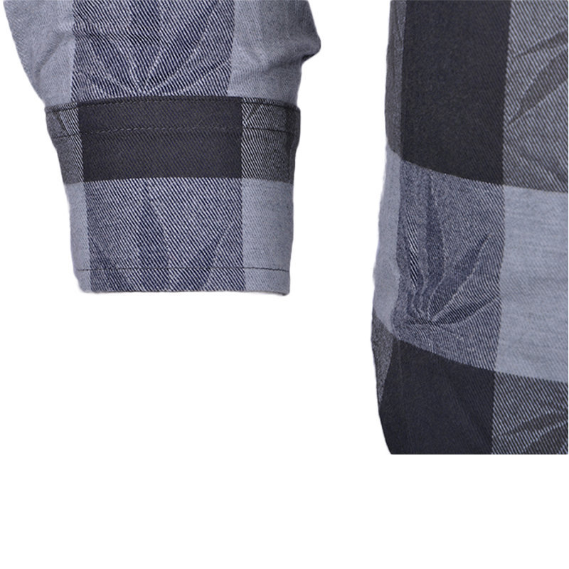 palm angles mens ​​​​​​flannel check shirt cotton long sleeve casual grey shirts