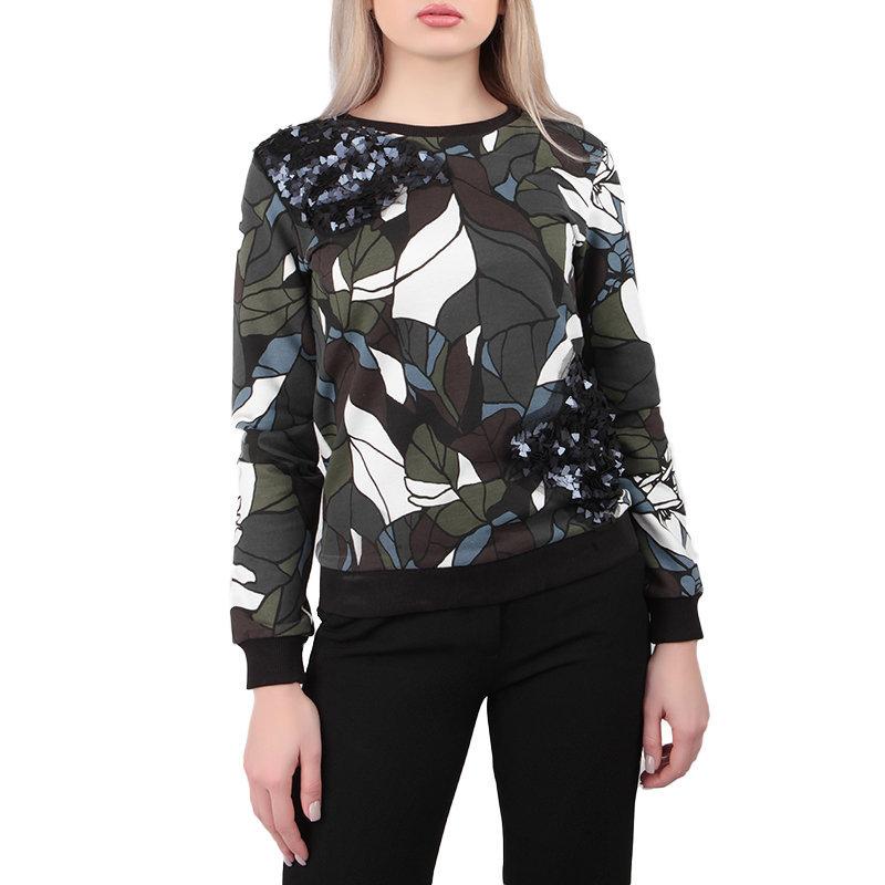 armani jeans 6x5m10 5j0dz womens sweatshirt long sleeve multicoloured casual top