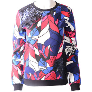 armani jeans 6x5m10 5j0dz womens sweatshirt long sleeve printed casual jumper