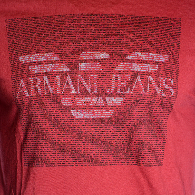 armani jeans 6x6t88 mens t-shirts long sleeve crew neck casual summer cotton tee