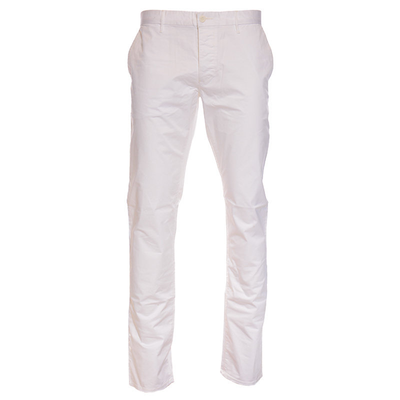 armani jeans 8n6p15 6n7sz mens chino trousers stretch slim fit casual white pant